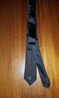 Authentic Prada Skinny Grey Tie / Dasi warna abu2