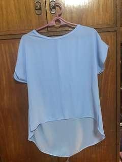 Long back blouse(powdered blue)