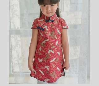 Red Cheongsam [PO] / Red Phoenix Cheongsam Qipao for girls baby toddler / CNY2019