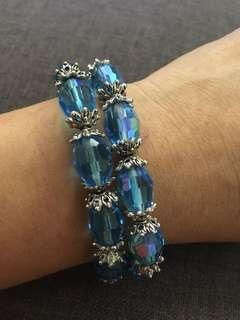 12.) bracelet fashion crystal 2 pcs