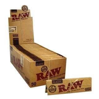 50包x50pcs. RAW Classic Single Wide Rolling Papers / 手捲煙紙