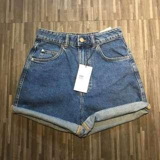 Vintage Blue Zara Mom Short