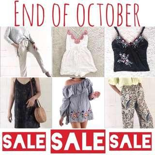 SALE!!!! END OF OCTOBER!!!!