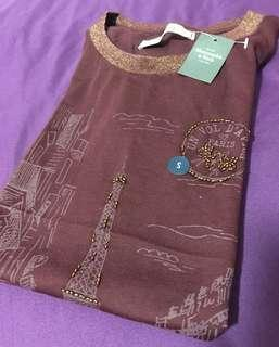 AUTHENTIC NEW LADIES A&F CASUAL GRAPHIC TEE (SIZE S ONLY) From USA!! <<MAROON>>