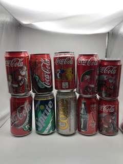 可口可樂懷舊汽水罐每個15元