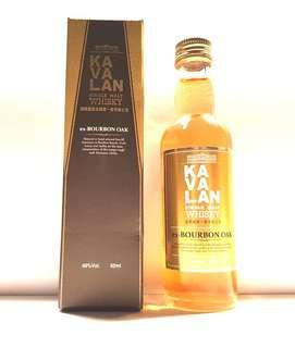KAVALAN SINGLE MALT WHISKY EX-BOURBON OAK 50ML MINIATURE