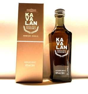 KAVALAN SINGLE MALT WHISKY CLASSIC 50ML MINIATURE