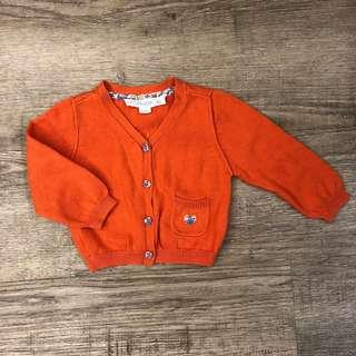 Chateau de sable baby girl cardigan butterfly 6m