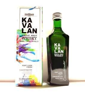 KAVALAN SINGLE MALT WHISKY PORT CASK FINISH CONCERTMASTER 50ML MINIATURE - SUBKARMA COLLECTION