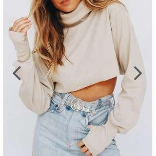 Verge Girl Crop Turtle Neck Sweater