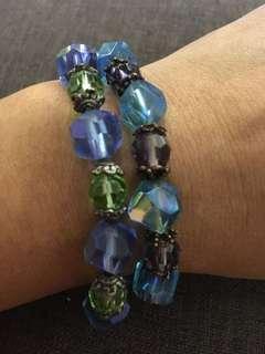 15.) 2 pcs crystal bracelet