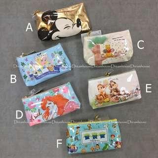 東京迪士尼 米奇 小美人魚 玩具總動員 奇奇蒂蒂 愛麗絲 維尼 防水 雙面圖案 筆袋 萬用包 化妝包