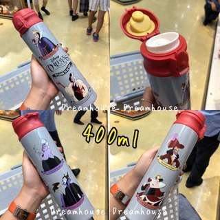 東京迪士尼 反派 壞皇后 烏蘇拉 黑魔女 庫伊拉 安全扣 隨身 保溫保冷 水壺 水瓶 保溫瓶