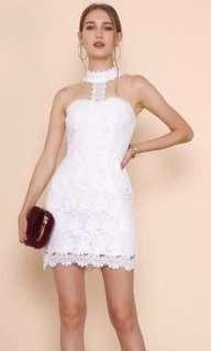 BNWT Supergurl Premium White Crochet Lace Dress