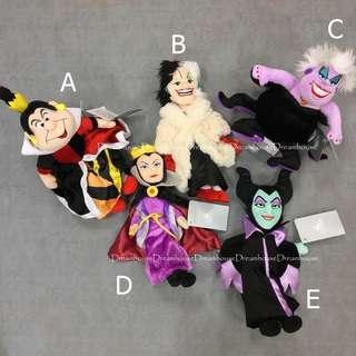 東京迪士尼 反派系列 黑魔女 烏蘇拉 庫伊拉 玩偶 娃娃 布偶