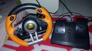 PXN limited orange pro gaming steering (LELONG)