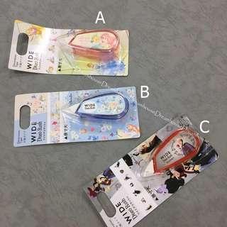 東京迪士尼 愛麗絲 小美人魚 反派系列 wide deco rush 花邊帶 手帳本裝飾