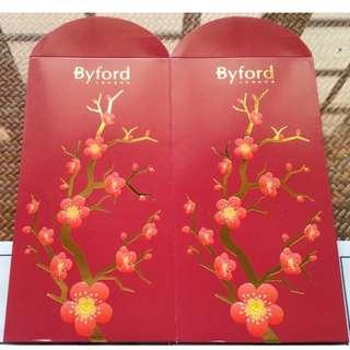 5 pcs Byford London Cherry Blossom Red Packet / Ang Pao Pow Bao Pau / Sampul Duit