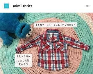 Checkered Shirt (Brand : Tiny Little Wonders)