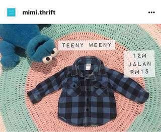 Checkered Shirt (Brand : Teeny Weeny) , 12m