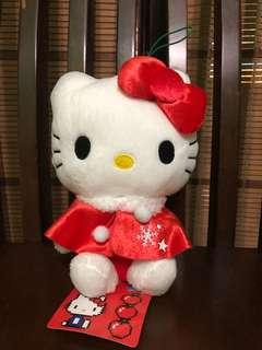 plush hello kitty in red xmas outfit