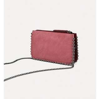 Zara burgundy crossbag / wallet