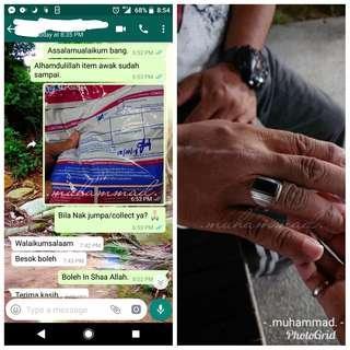 #87👍🏻 🔱 CINCIN 925 SILVER PERMATA BATU PETIR ORIGINAL ASLI 🔱                                  🌟 Customer's Purchase 🌟