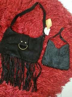 REPRICED TO LAST PRICE Black shoulder bags