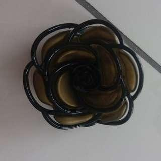 Olive Green Rose Hair Clip