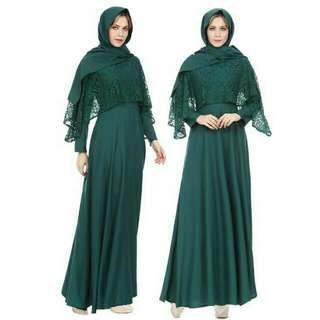 New Middle East Islamic clothing Dubai muslim robe lace maxi dress wedding dress