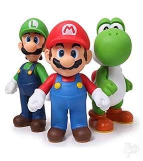 Super Mario Bros Action Figures(3 pcs sets)
