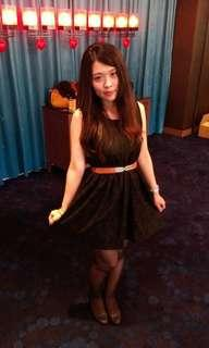 🚚 全黑蕾絲小洋裝