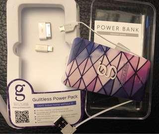 全新 Guiltless Powerbank Android lightning Iphone 4,5,6 x USB