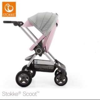 【限量款】全新 一台 可折疊 高景觀 精巧型都市手推車童車嬰兒車Stokke Scoot V2 全配件 可面交