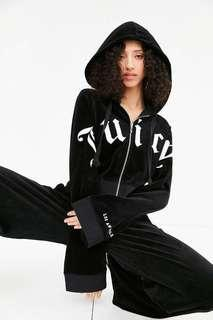 Juicy couture cropped velour zip hoodie