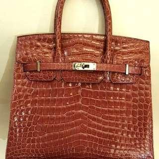 Kwanpen  crocodile skin handbag