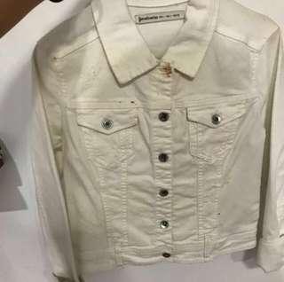Jaket jeans stradivarius white