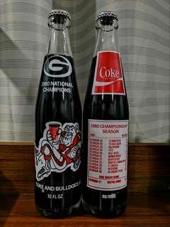 1980 coca cola coke glass bottle
