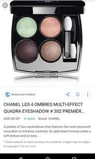 CHANEL LES 4 OMBRES MULTI-EFFECT QUADRA EYESHADW 302 PREMIERE ECLOSION 💯% AUTHENTIC