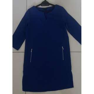 The Executive Blue Dress with Zips