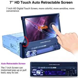 Latest Auto Retractable 7 inch Touchscreen LCD - Radio, Bluetooth, MirrorLink, USB/Card Player