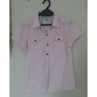Bum Equipment Pink Shirt with Hearts