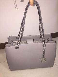 MK Michael Kors Susannah Large Tote Satchel Leather Handbag BLOSSOM