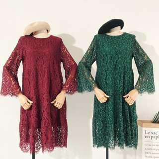 PREMIUM Floral Lace Dress