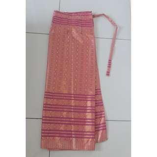Pink Kain Skirt Songket