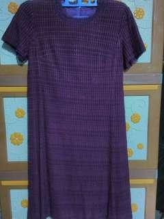 Simple Dress/Purple Dress/Dress Ungu