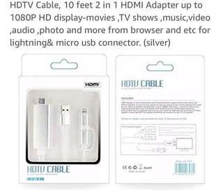 HDTV CABLE(Lighting&Micro(USB)Connector