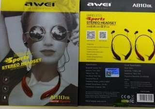 Awei Bluetooth Headset A810 藍牙耳機