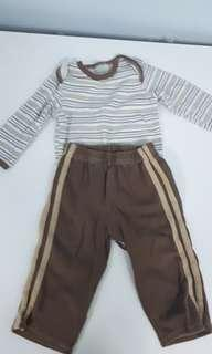 Sleep wear set with long sleeve shirt and pants #prelovedwithlove