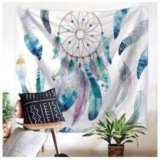 Dream Catcher Tapestry Mat & Lights Set